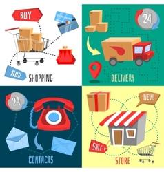Design concept of e-commerce vector image
