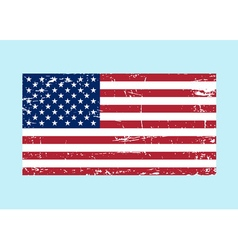 Flag USA sign Grunge National symbol freedom vector image vector image