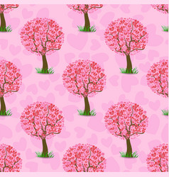 heart tree pattern vector image vector image
