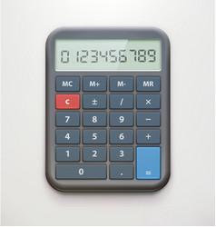 realistic electronic calculator vector image vector image
