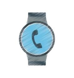 Smart watch modern wearable technology phone vector