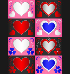 template with a heart-shaped area for text that vector image vector image
