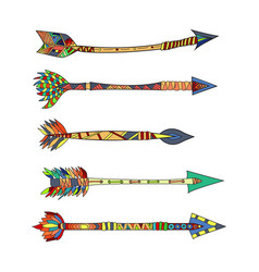 tribal arrows vector image vector image