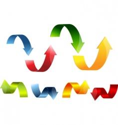 3d arrow set colorful vector image