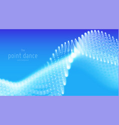 abstract blue particle wave points array vector image