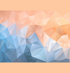 Abstract polygon background blue pink vector