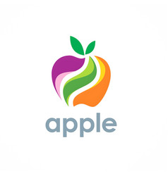 Apple fruit logo vector