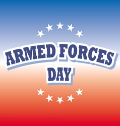 armed forces day america banner on red and blue vector image