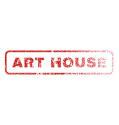 Art house rubber stamp vector