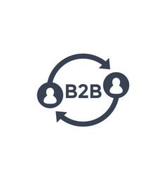 b2b icon on white vector image