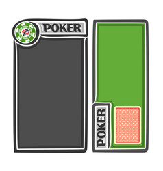Banners for poker text vector