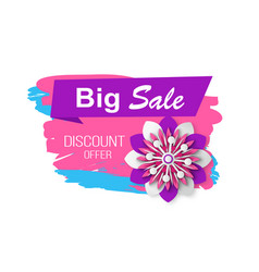 big sale and discounts shops clearance banner vector image