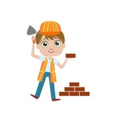 Boy Future Construction Worker vector image