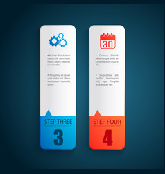 business design concept banners set vector image