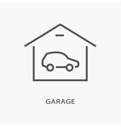 car garage icon on white background vector image