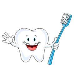 Cartoon Tooth Character vector