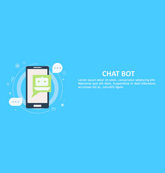 Chat bot on phone banner vector