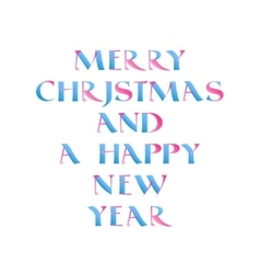 Christmas calligraphy in blue and pink vector