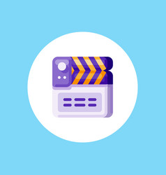 clapperboard icon sign symbol vector image