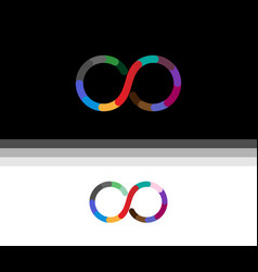 creative infinity symbol logo vector image