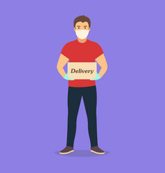 delivery goods during prevention vector image