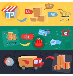 Design concept of e-commerce vector image