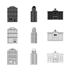 Design municipal and center logo vector