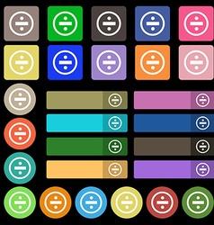 Dividing icon sign Set from twenty seven vector