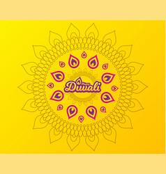 diwali festival greeting card hindu festival vector image