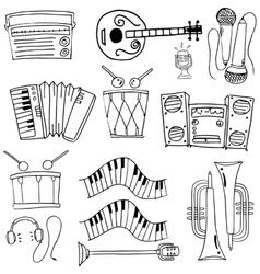 Doodle of music tools theme vector