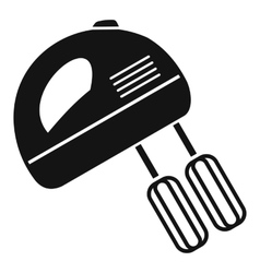 Electric mixer icon simple style vector