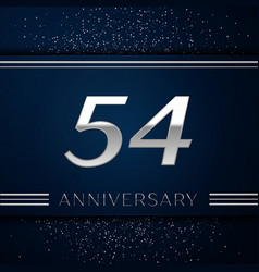 fifty four years anniversary celebration logotype vector image