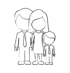figure family with their son icon vector image