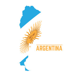 flag and map of argentina vector image