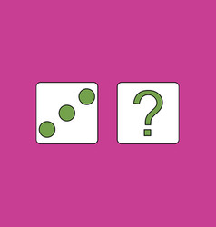 Flat icon design collection dice and question mark vector