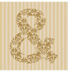 Floral font symbol vector