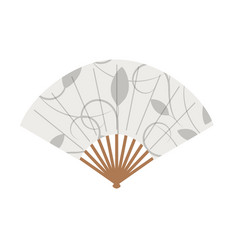 floral ornament asian fan on white background vector image