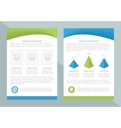 Flyer template design with front page and vector
