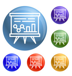 graph banner icons set vector image