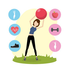 Health fitness cartoon vector