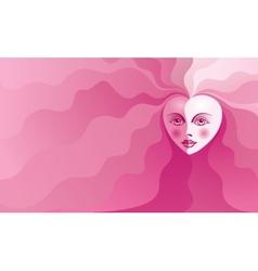 Heart face vector image