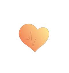 heart shape medical icon cartoon style vector image