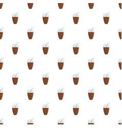 ice coffee pattern seamless vector image