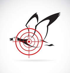 image of a wild duck target vector image