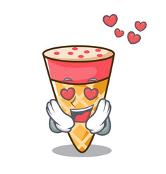 In love ice cream tone mascot cartoon vector