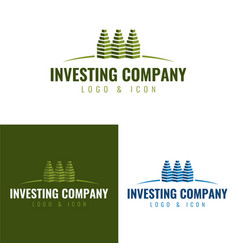 Investing and real estate company logo and icon vector
