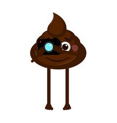 Isolated poop emoji vector