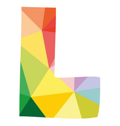 L colorful letter isolated on white background vector