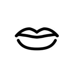 lips line icon mouth symbol for your web site vector image