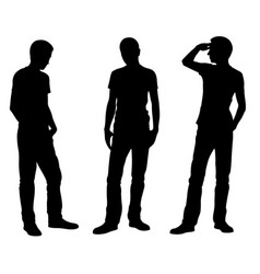 men is different standing positions vector image